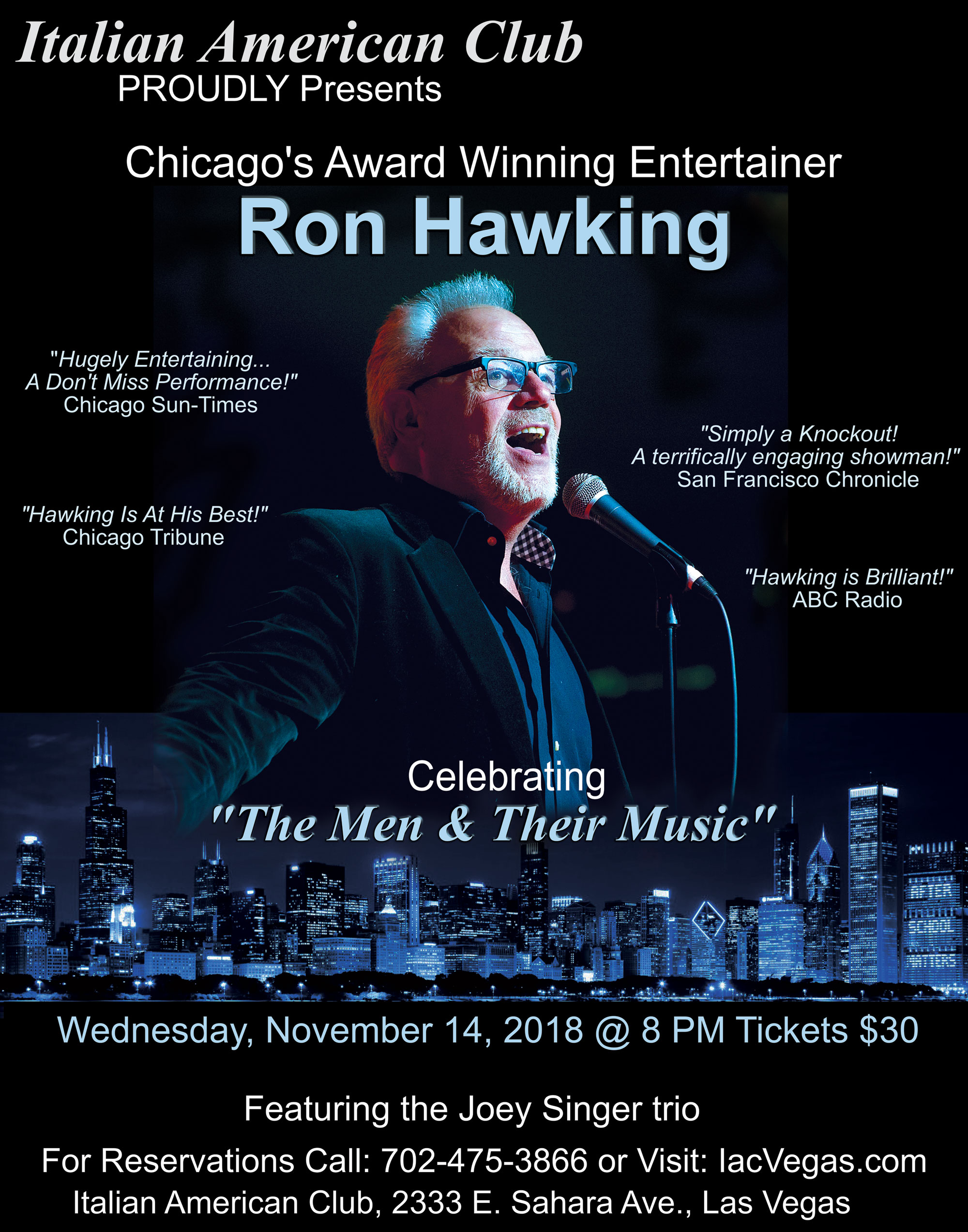 Ron Hawking - Chicago's Award Winning Entertainer